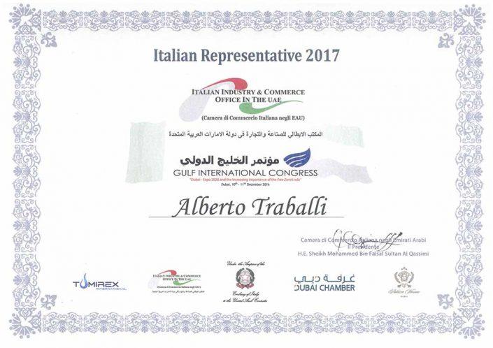 Rappresentante italiano CCIAA Dubai