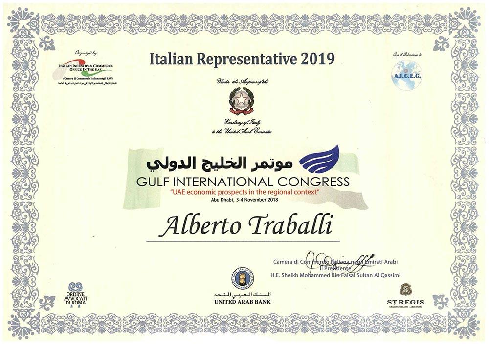 Italian Representative 2019 Emirati Arabi Uniti